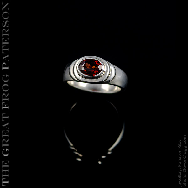 3 Tier Band silver gemstone ring | The Great Frog