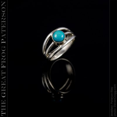 Small 3 Band Shank Gemstone Ring | The Great Frog Paterson