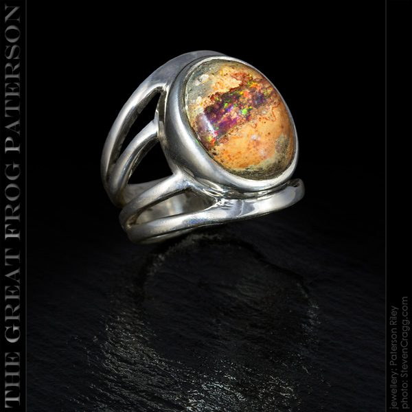 Large 4 Band Shank gemstone ring - Mexican Fire Opal | The Great Frog Paterson