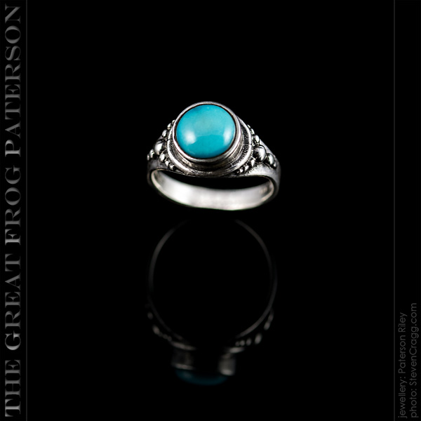 8mm Silver Beaded Gemstone Ring | The Great Frog Paterson