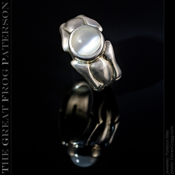 Large 8mm Gemstone Scalloped Ring - Moonstone| The Great Frog Paterson