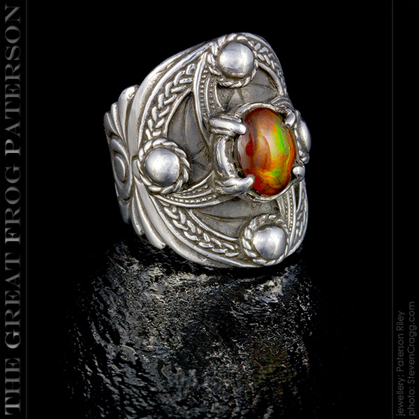 Silver Celtic Shield Ring | The Great Frog Paterson