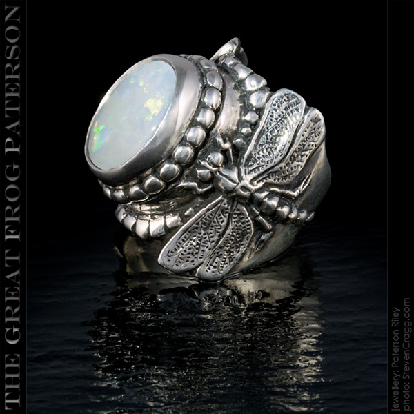 Large Silver Dragonfly Ring - austrain opal | The Great Frog Paterson