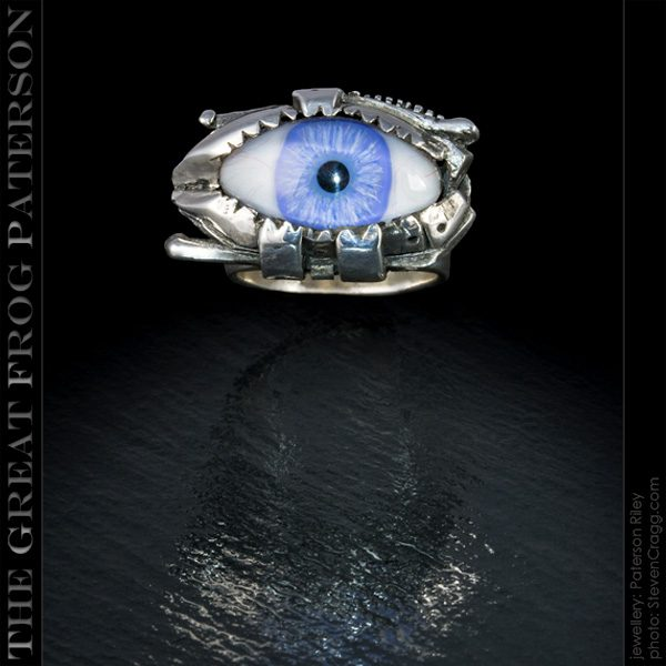 Silver Steam Punk Eye Ring| The Great Frog Paterson