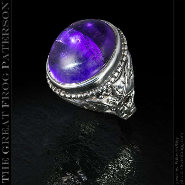 Large Ivy Beaded Ring - Amythyst | The Great Frog Paterson