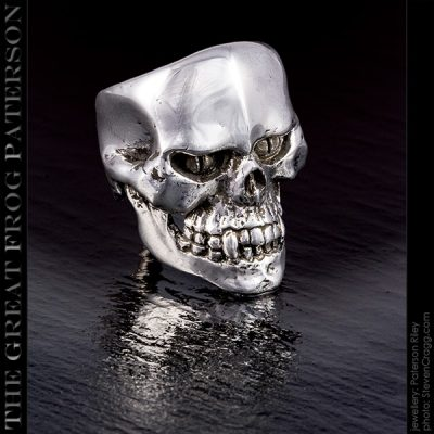 Bad Dude silver skull ring