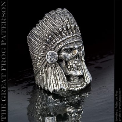 Large Ghost Warrior Skull Ring