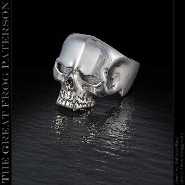 Silver New School Skull Ring | The Great Frog Paterson