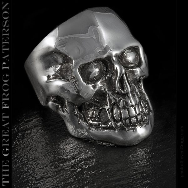 Seeker solid silver skull ring | The Great Frog Paterson
