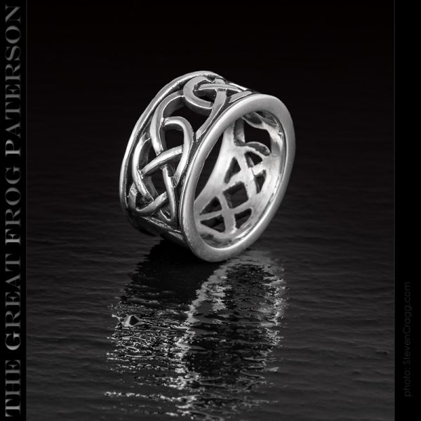 Silver Celtic Knotwork ring (cutout)