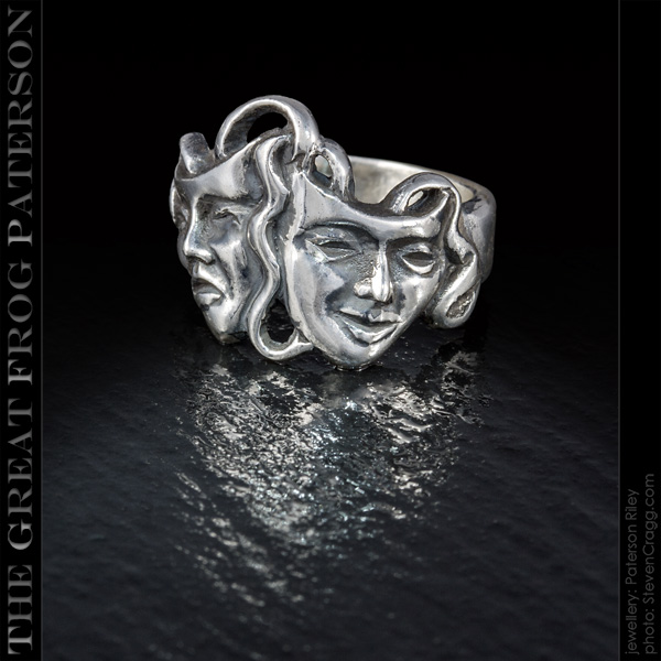Silver Comedy Tragedy Ring | The Great Frog Paterson