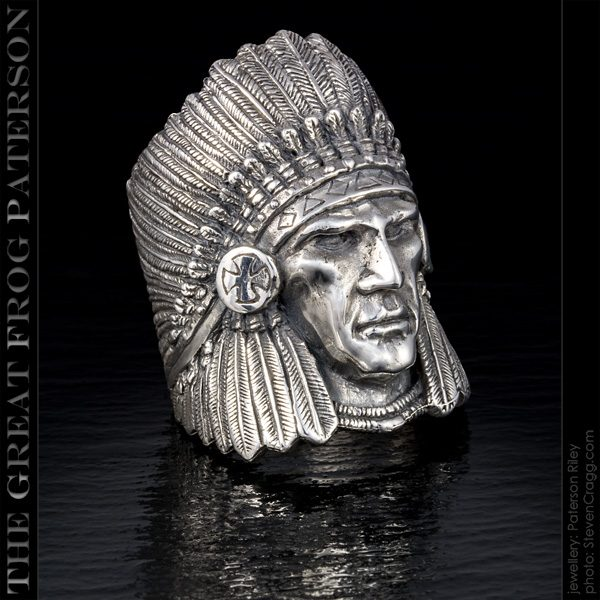 Native American Ring: Warrior Chief | The Great Frog Paterson