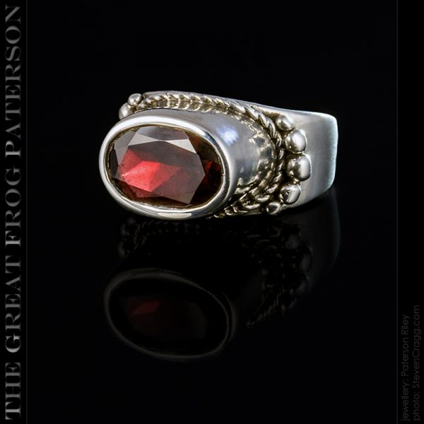 High Set silver gemstone ring | The Great Frog Paterson