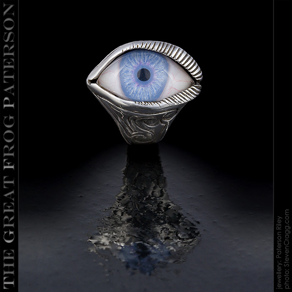 Silver Eye Ring: engraved   The Great Frog Paterson