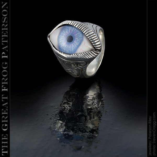 Silver Eye Ring: engraved | The Great Frog Paterson