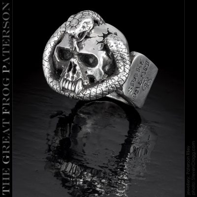 Silver Skull Snake Ring | The Great Frog Paterson