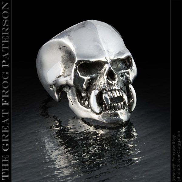 Silver Tusked Skull Ring | The Great Frog Paterson