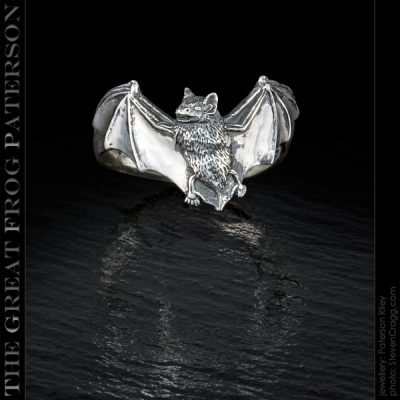 Gothic silver bat ring | The Great Frog Paterson