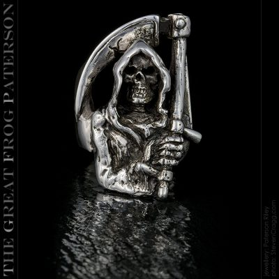 Silver Grim Reaper Ring | The Great Frog Paterson