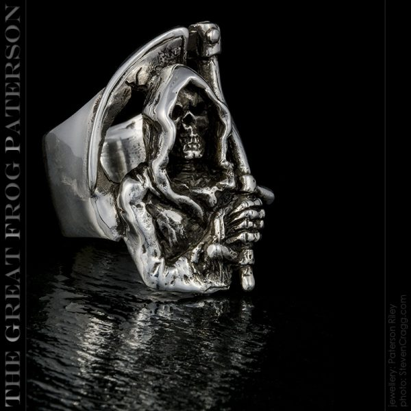 silver skull ring : The Grim Reaper : The Great Frog Paterson