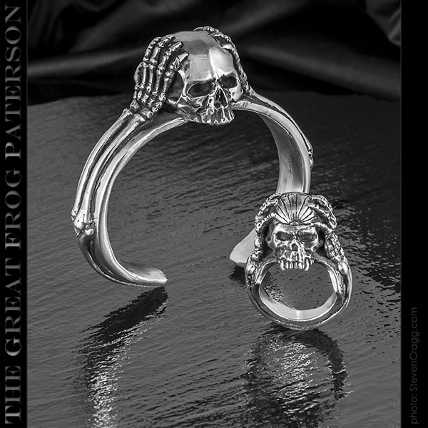 The Great Frog - Migraine Skull silver set