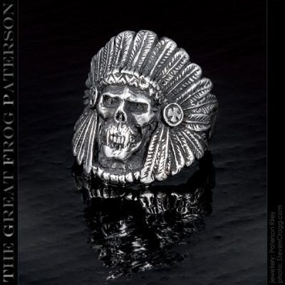 native american skull ring vampire warrior