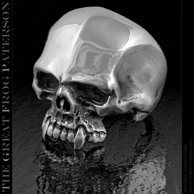 Solid Sterling Silver Skull Ring: Abel   The Great Frog Paterson