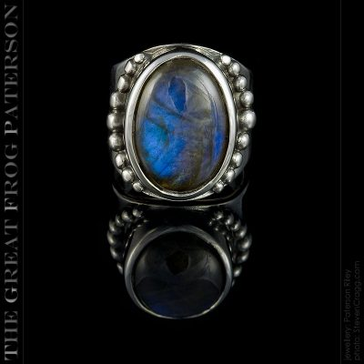 large gemstone silver ring - labradorite | The Great Frog Paterson