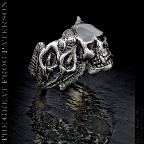 the great frog paterson: Consider The Lilies funeral skull ring