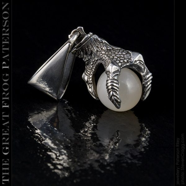 silver eagle bird claw pendant : The Great Frog Paterson