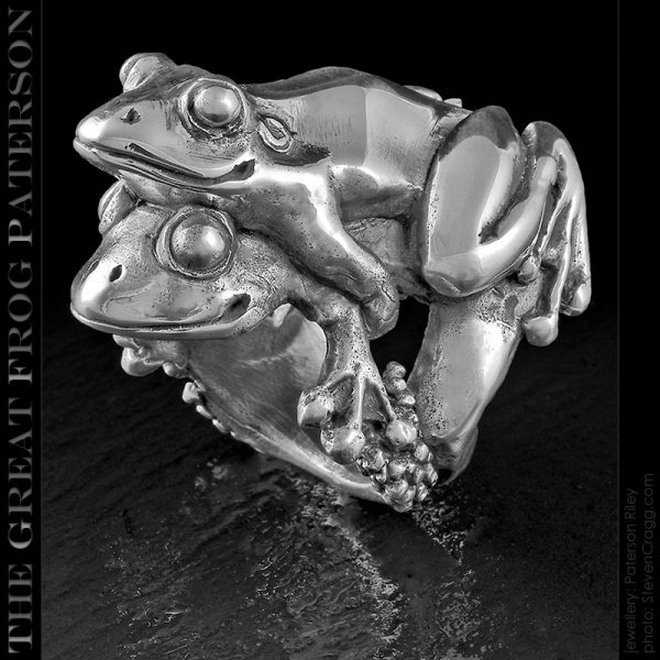 the great frog : silver frogs amplexus ring