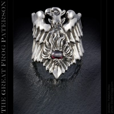 Illuminati Silver Phoenix Ring | The Great Frog Paterson