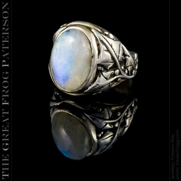 silver ivy gemstone ring - blue moonstone | The Great Frog Paterson