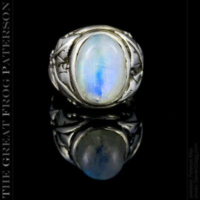 Silver Ivy Leaf Ring - blue moonstone ring | The Great Frog Paterson