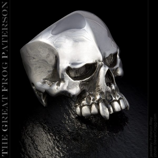 Silver Skull Ring: Nemesis | The Great Frog Paterson