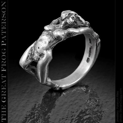 the great frog : reclining nude ring : paterson riley