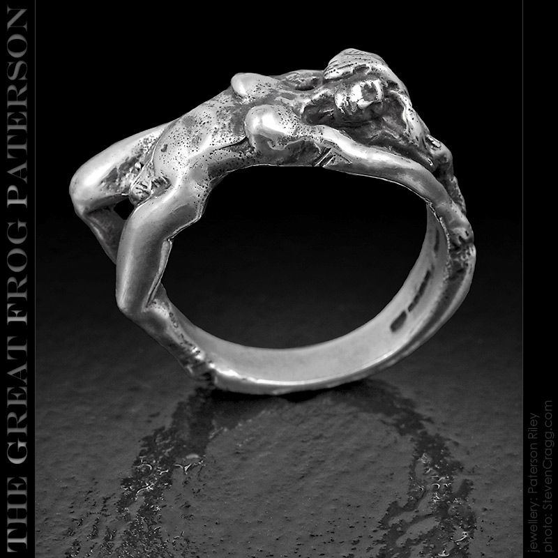 The Great Frog Paterson: Silver Reclining Nude Woman ring.The ...