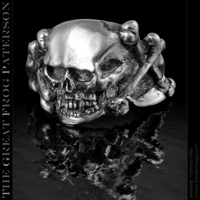 Scythe Death Skull Ring | The Great Frog Paterson