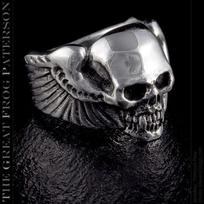 Winged Silver Vampire Ring v2 | The Great Frog Paterson